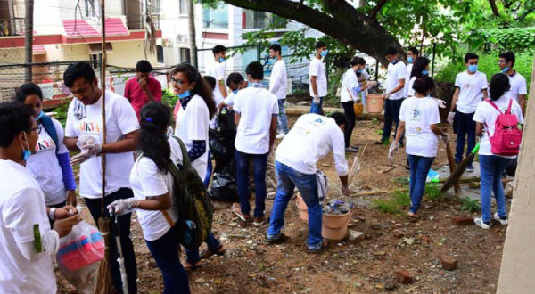 Akshaya Patra contributes towards Cleanliness