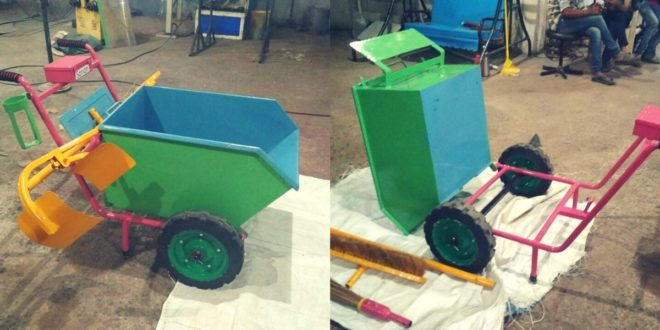 15 Year Old invents a Garbage Collecting Cart